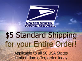 $5 flat rate shipping for Hawaiian Clothing